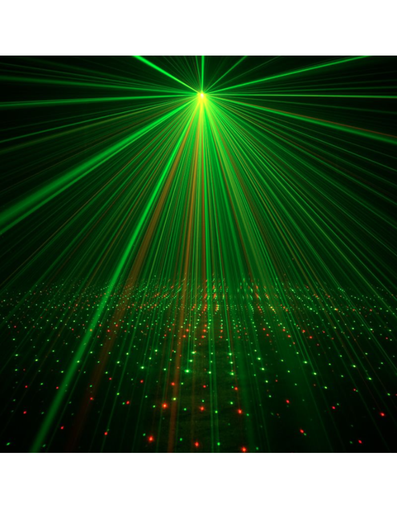 ADJ ADJ Micro Galaxian II Green and Red Laser that Produces More than 200 Beams