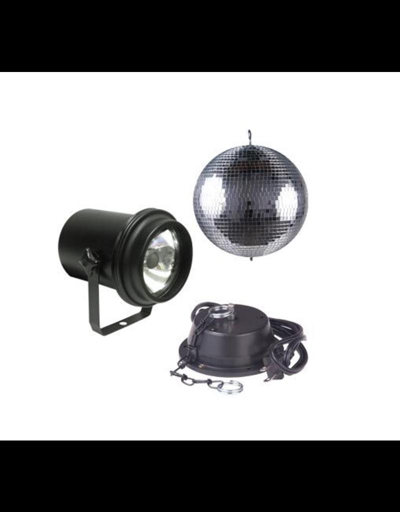 """ADJ ADJ M-500L 8"""" Mirror Ball Package Includes Motor & Pinspot"""