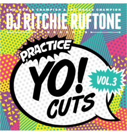 "Turntable Training Wax Ritchie Ruftone Practice Yo! Cuts Vol. 3 12"" Scratch Record"