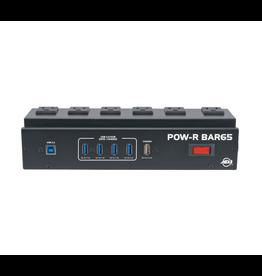 ADJ ADJ POW-R BAR65 with 6 Surge Protected Outlets & a 4-Port USB 3.0 Hub