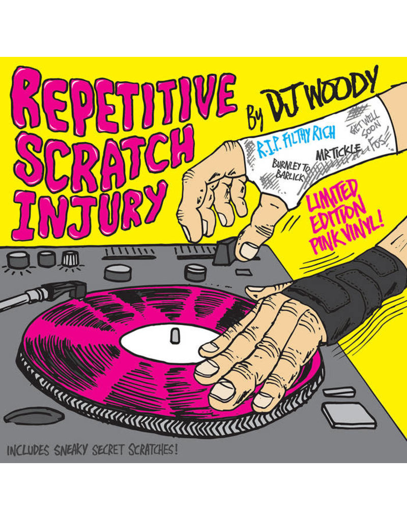 """Woodwurk Records Repetitive Scratch Injury by DJ Woody 7"""" Scratch Record"""