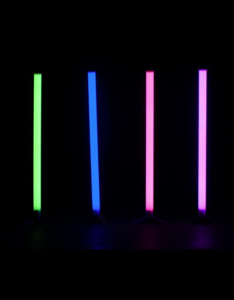 Eliminator Eliminator Lighting LED BP Tubes 4 Pak Rechargeable Battery Powered Color Changing Plastic LED Tubes