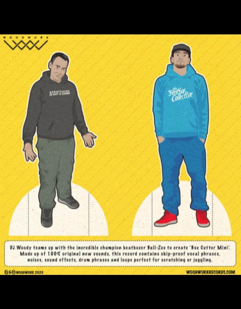 "Woodwurk Records Box Cutter Mini by DJ Woody feat. Ball-Zee 7"" Scratch Record"