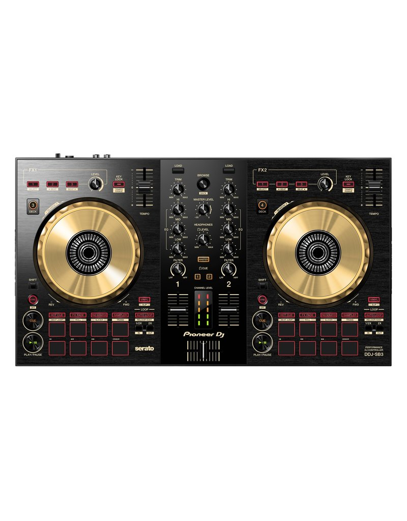 DDJ-SB3-N 2-Channel DJ Controller for Serato DJ Lite (Black w/ Gold) - Pioneer DJ