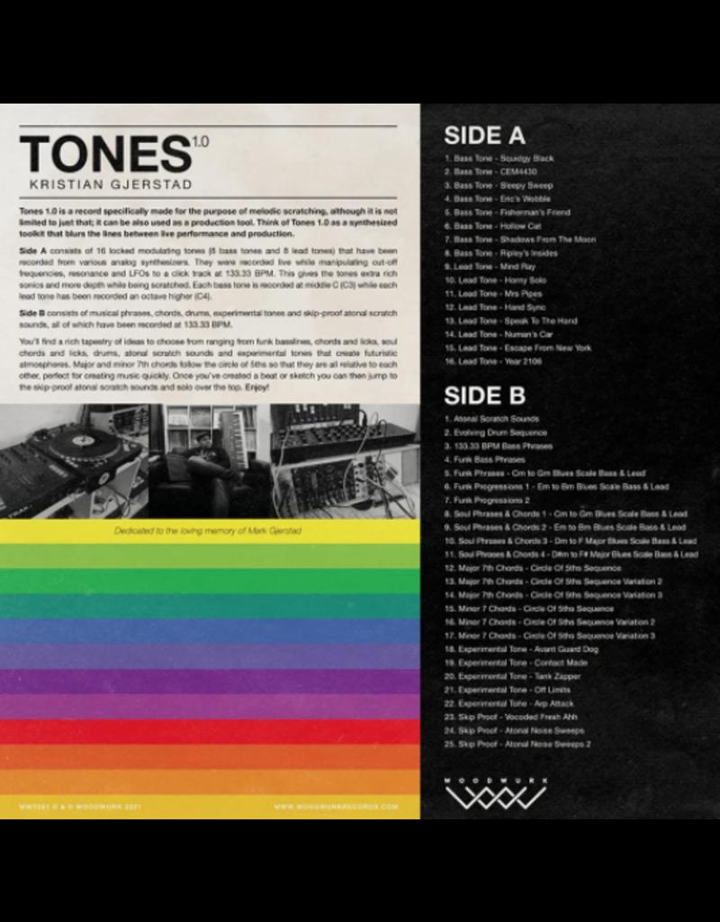 "Woodwurk Records Tones 1.0 by Kristian Gjerstad 12"" Scratch Record"