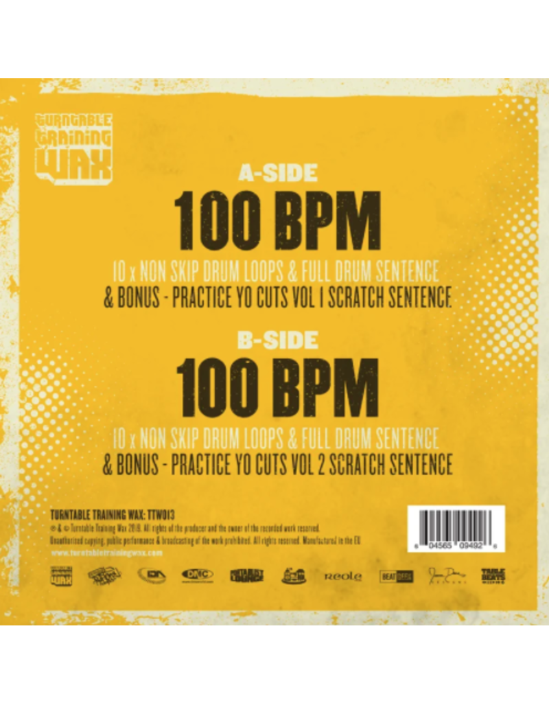 """Turntable Training Wax Ritchie Ruftone Ultimate Drum Loops 12"""" Juggle & Scratch Record"""