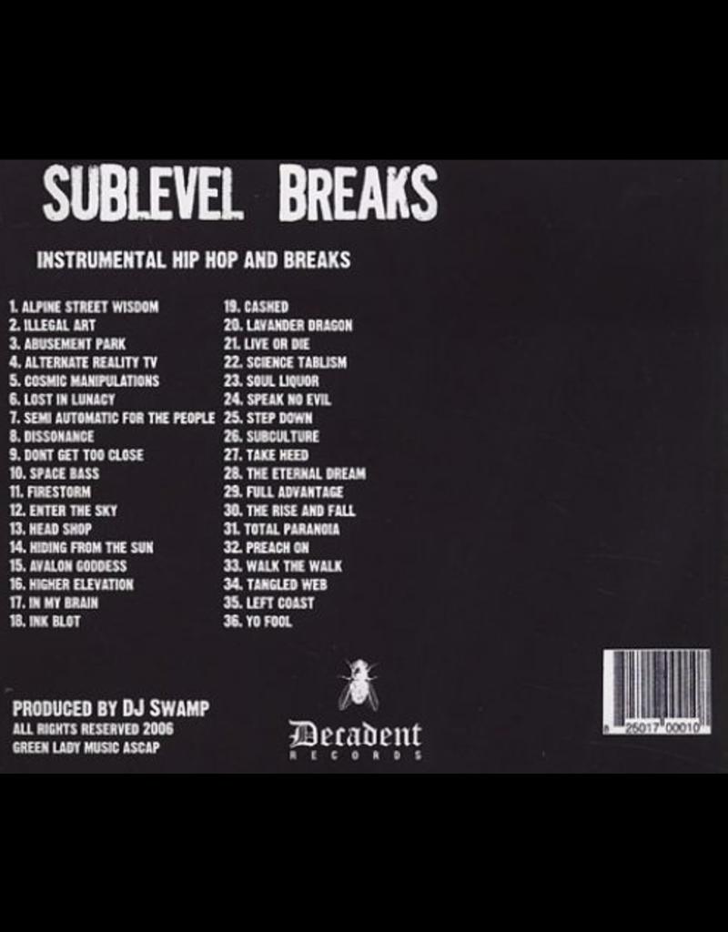 "Decadent Records DJ Swamp Sublevel Breaks 2 x 12"" Break Record"