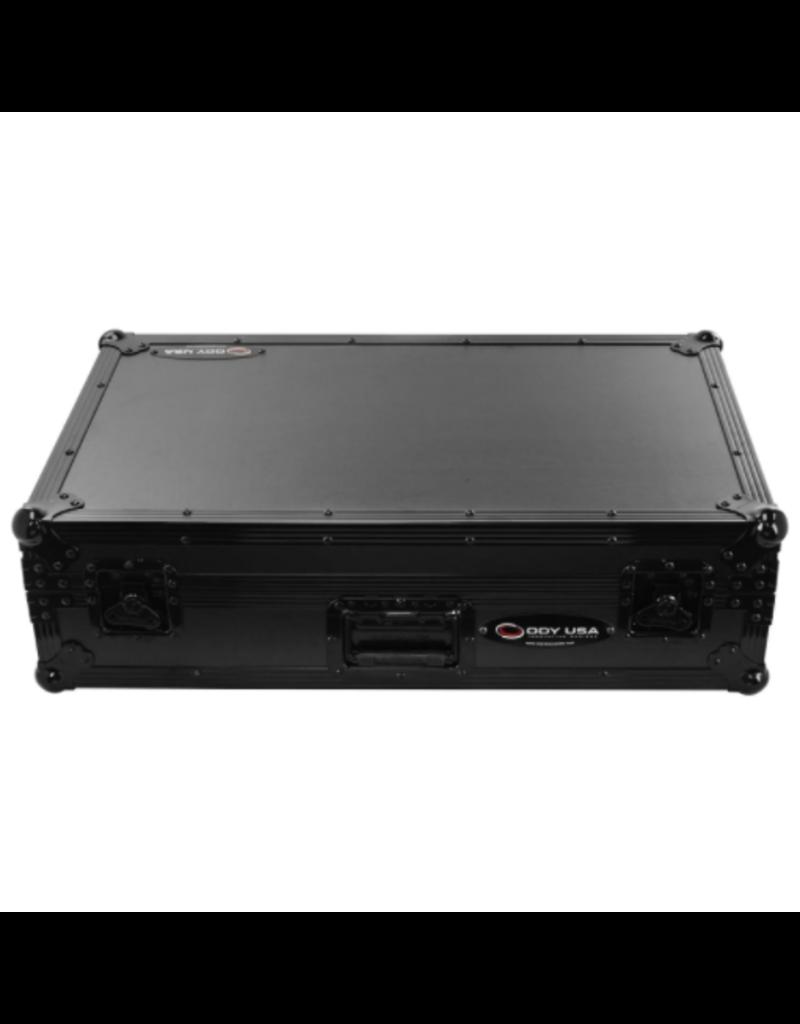 Odyssey All Black Flight Case for Rane One with Glide Platform