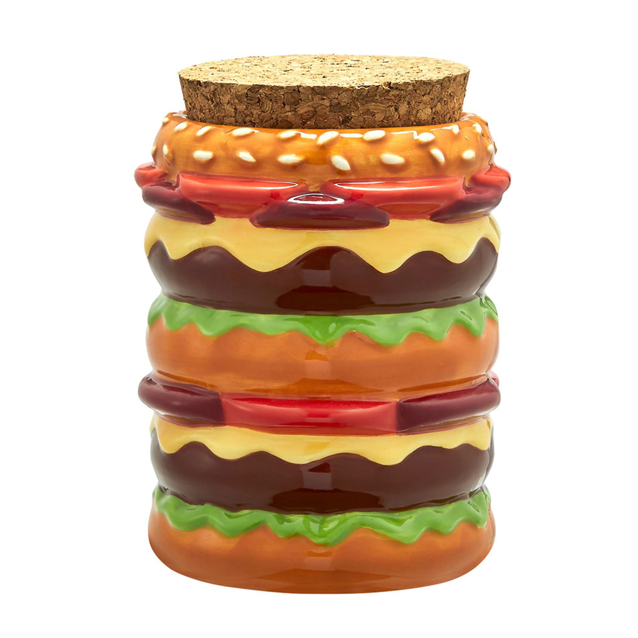 Roast & Toast Cheeseburger Stash Jar