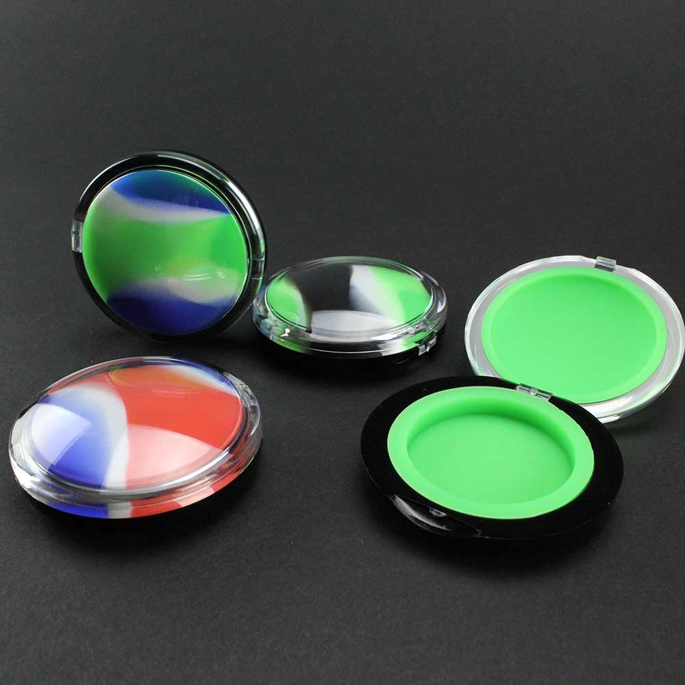 Multicolored 6ml Silicone Clamshell Container