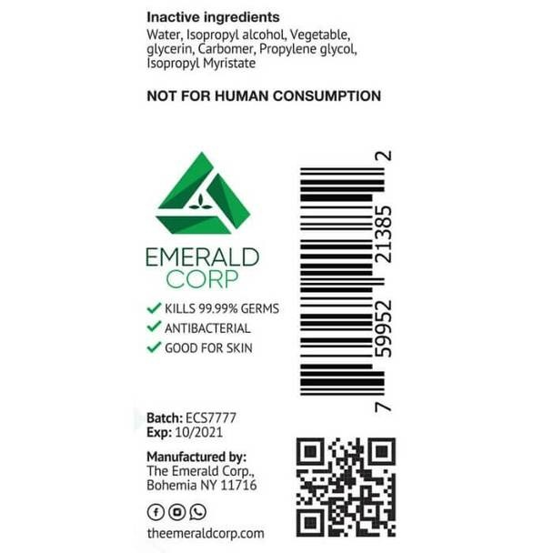 Emerald Corp 2oz Antibacterial Hand Sanitizer