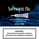 Saphyre Nicotine Sapphyre Nicotine 0.9ml 10%- Blue