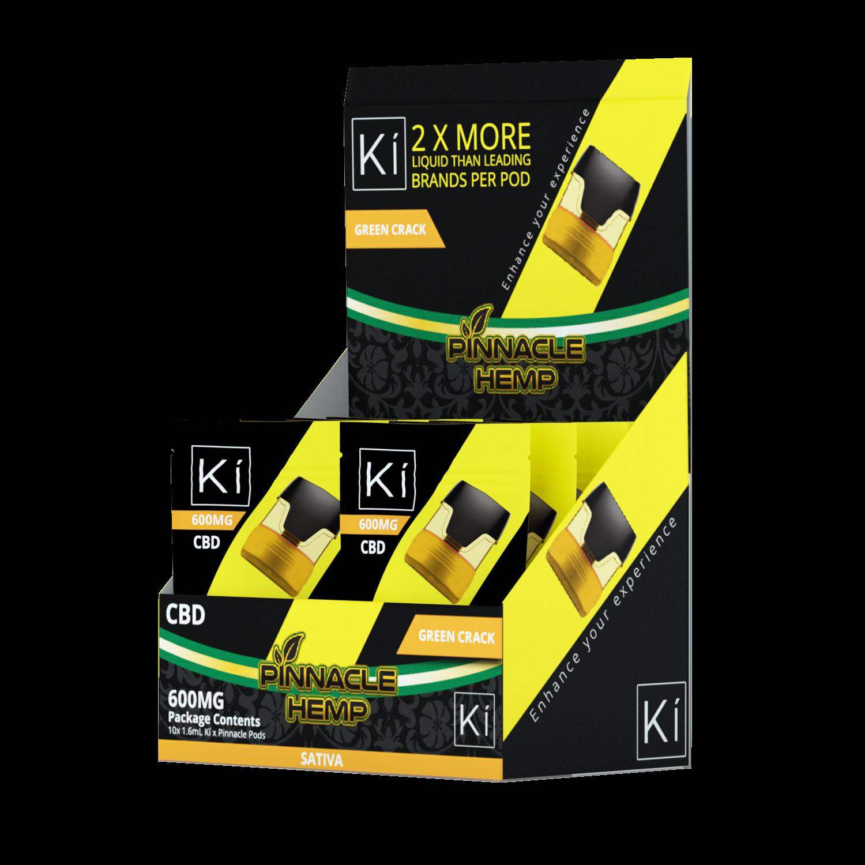 Pinnacle KI Pod Replacement Green Crack 600mg