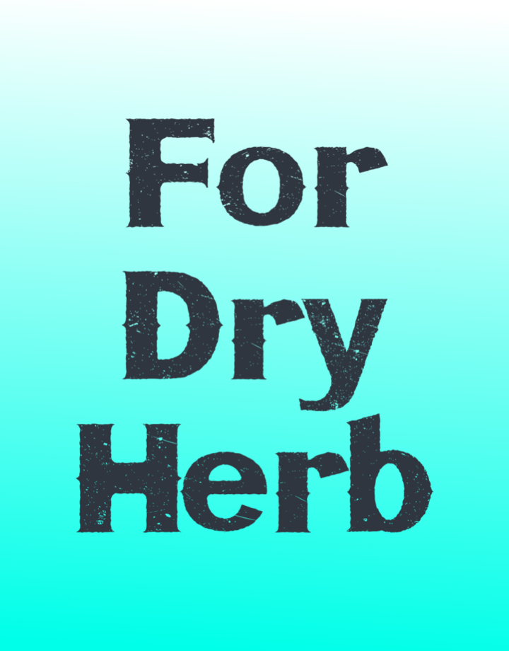 For Dry Herbs