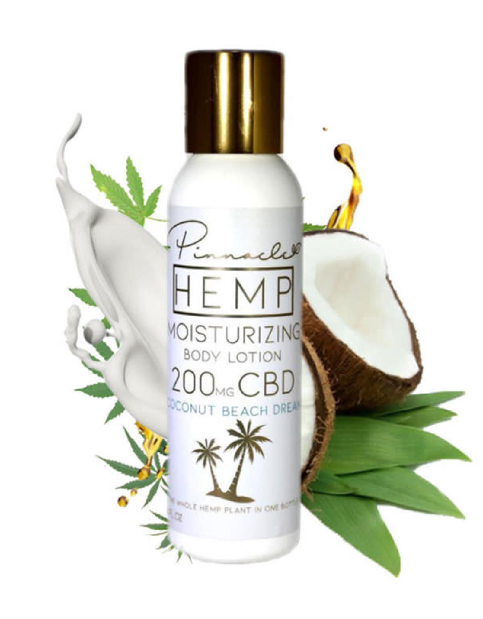 Pinnacle Hemp Full Spectrum CBD Body Lotion Coconut Beach Scent 4oz 200mg