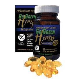 Broad Spectrum Hemp Extract Soft Gel Capsules 10mg 3000mg by Go Green Hemp