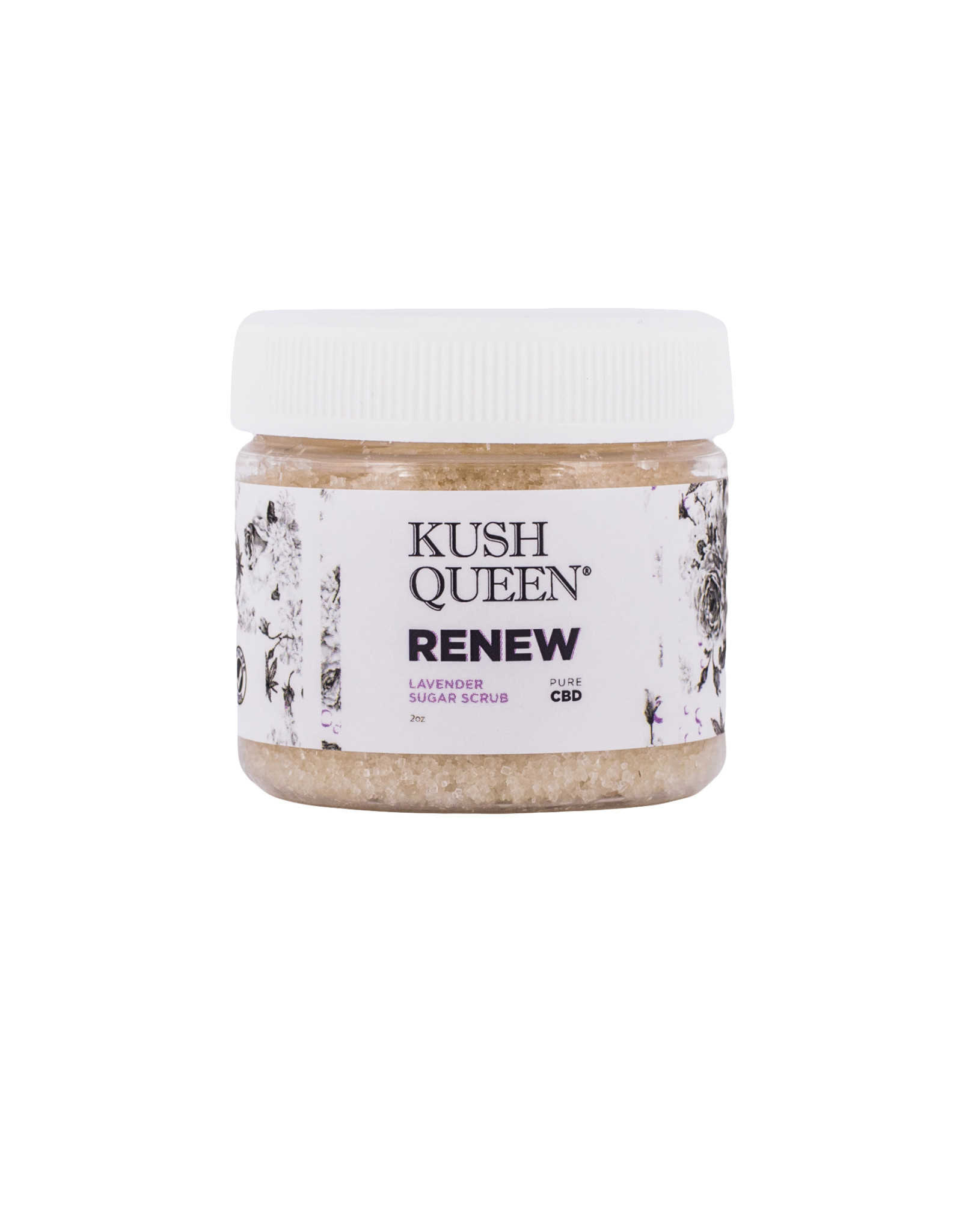 Kush Queen CBD Renew Lavender Sugar Scrub 2oz