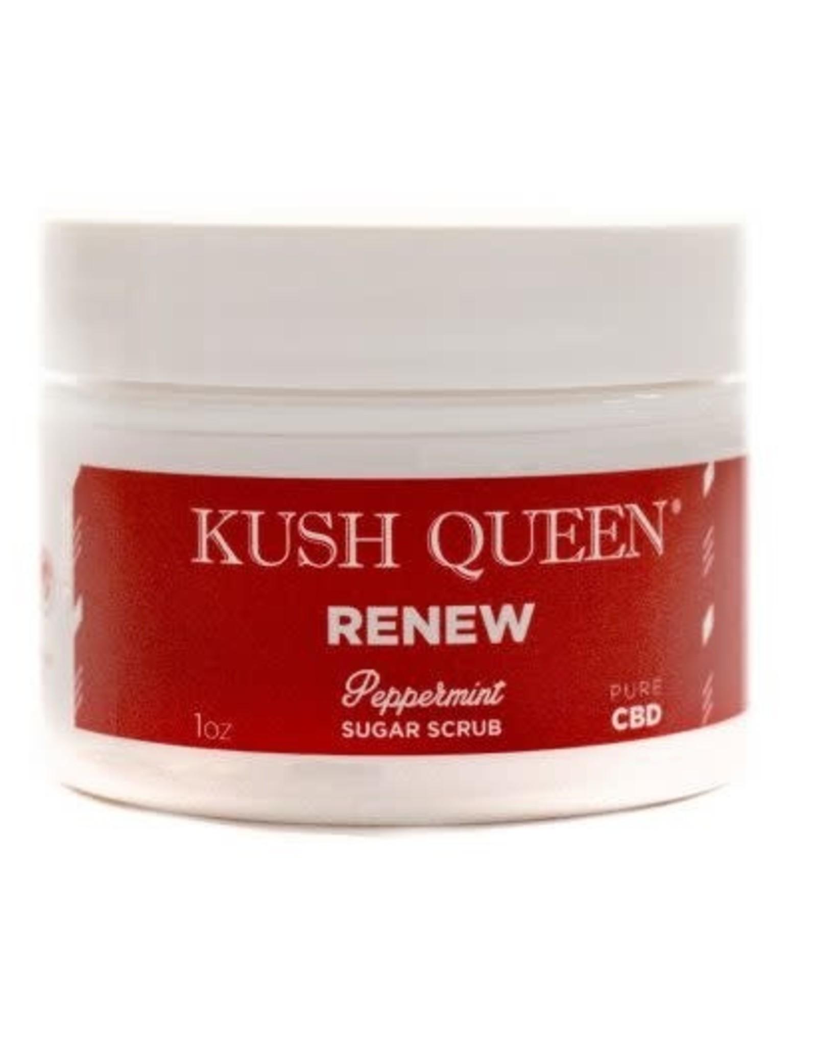 Kush Queen Renew Peppermint Sugar Scrub 1oz