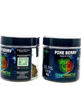 Green Gold CBD CBD Flower Pineberry, 7g 20.7% CBD