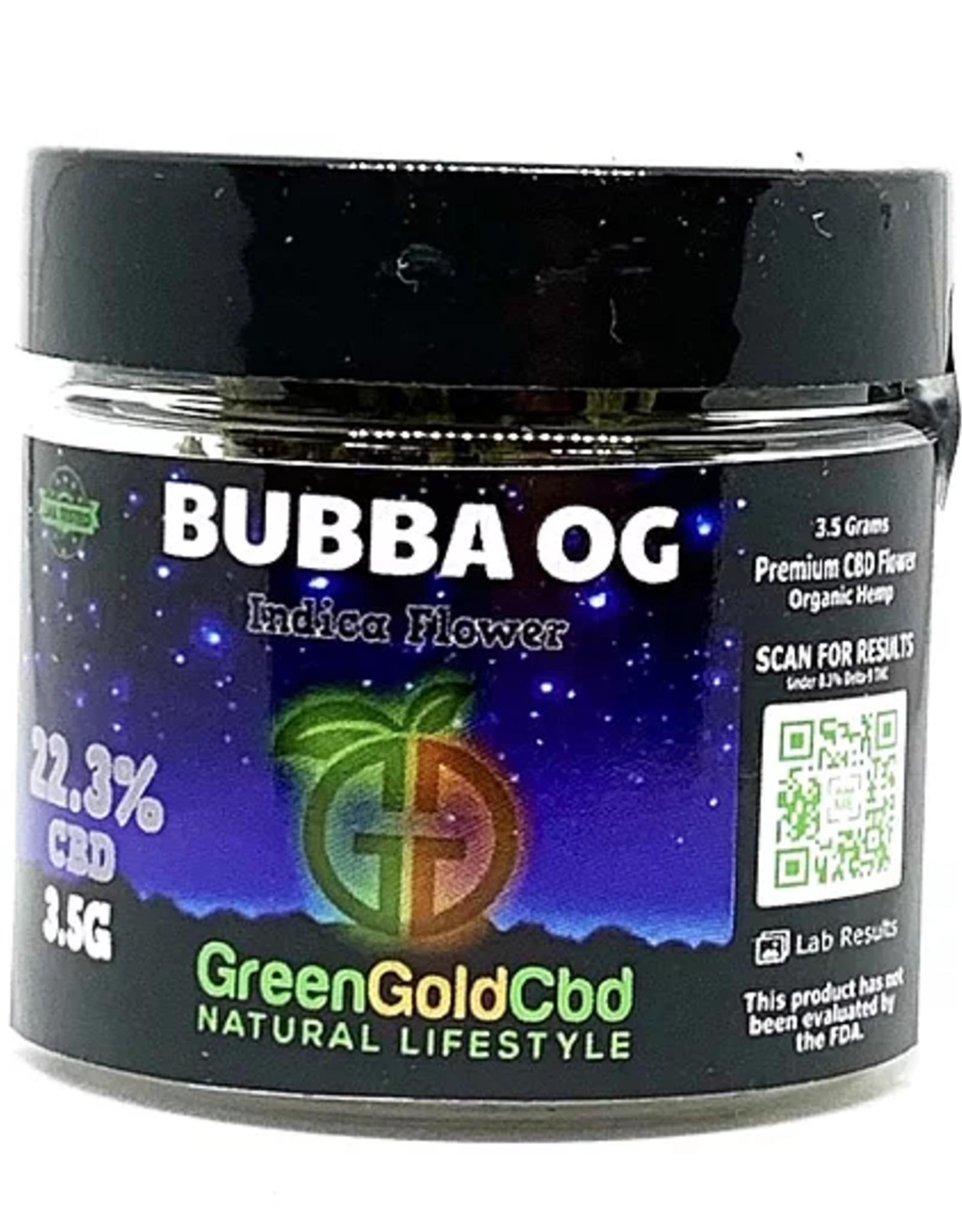 Green Gold CBD CBD Flower Bubba OG, 3.5g 22.3% CBD