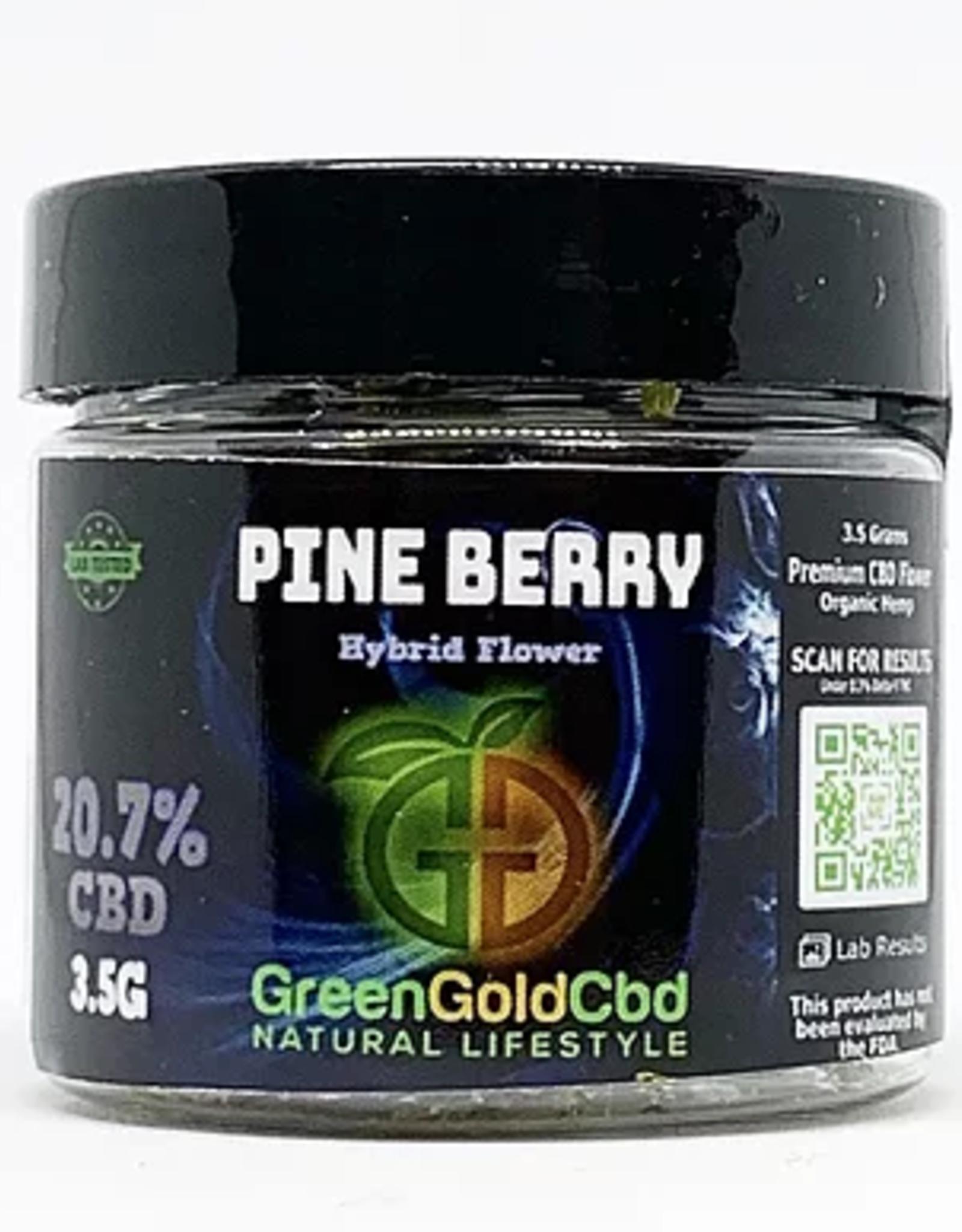 Green Gold CBD CBD Flower Pineberry, 3.5g 20.7% CBD