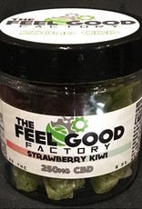 The Feel Good Factory Strawberry and Kiwi CBD Dried Fruit