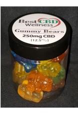 Best CBD Wellness Isolate CBD Gummies 250mg 20 pc/12.5mg ea
