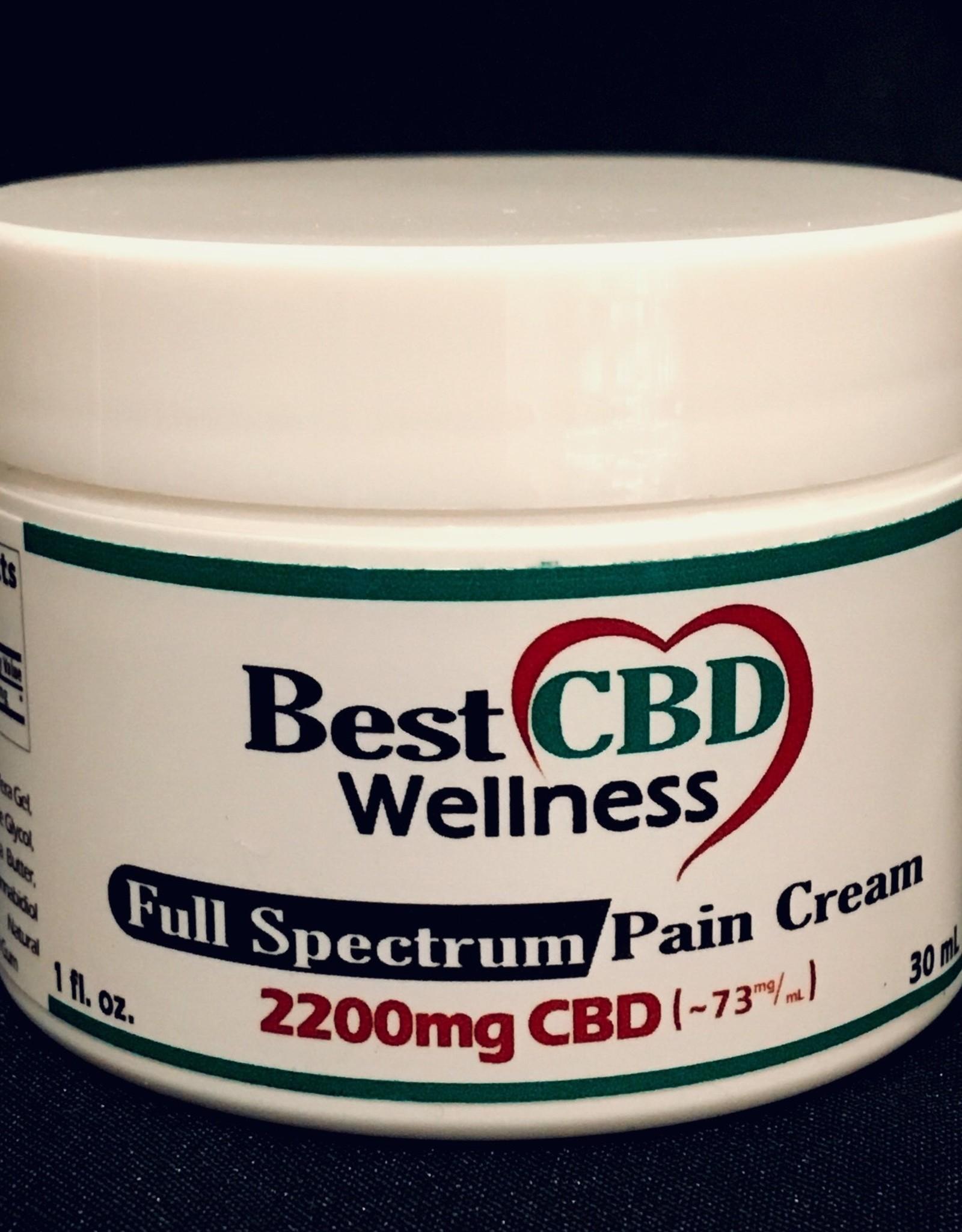 Best CBD Wellness Full Spectrum CBD Pain Cream 2200mg/73mg/ml 1oz