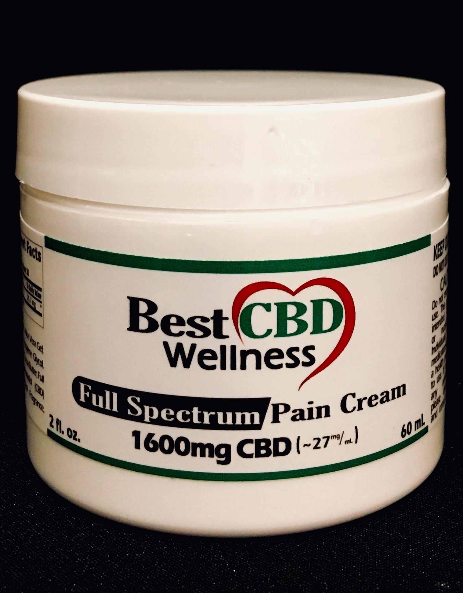 Best CBD Wellness Full Spectrum CBD Pain Cream 1600mg/27mg/ml 2oz