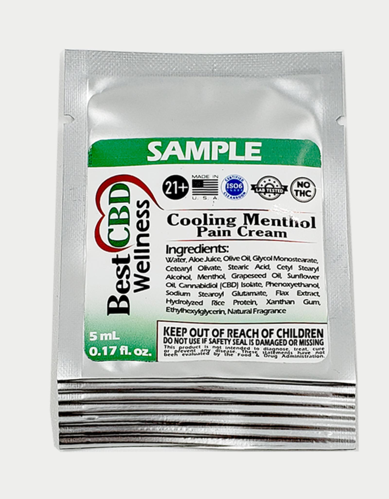 Best CBD Wellness Sample Size Isolate CBD Menthol Pain Cream 750mg/0.17 fl oz