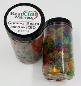 Best CBD Wellness Isolate CBD Gummies 3000mg 240 pc/12.5mg ea