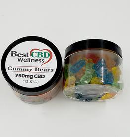 Best CBD Wellness Isolate CBD Gummies 750mg 60 pc/12.5mg ea
