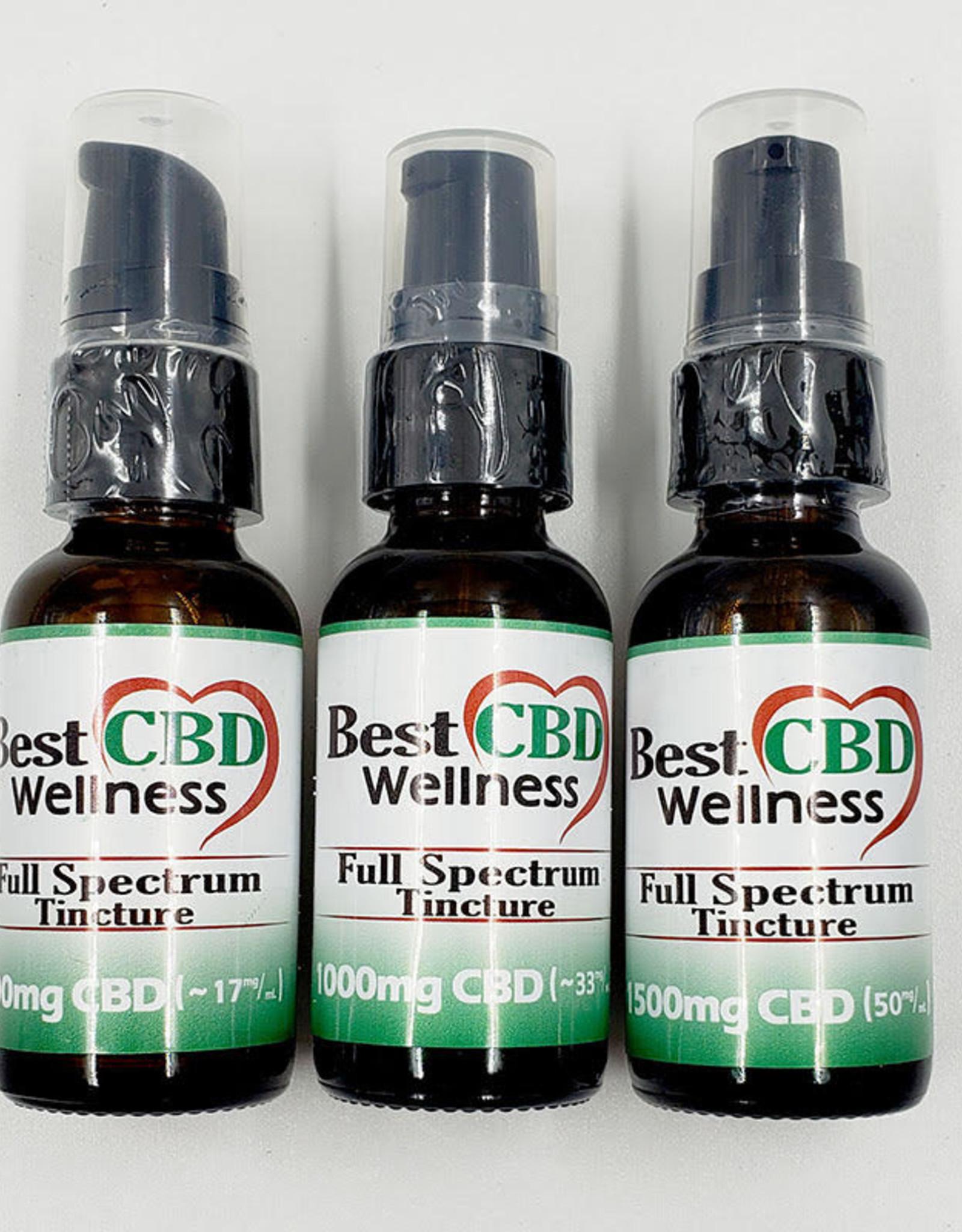 Best CBD Wellness Full Spectrum CBD Oil Tincture 1000mg Unflavored