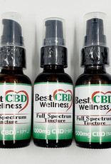 Best CBD Wellness Full Spectrum CBD Oil Tincture 500mg Unflavored