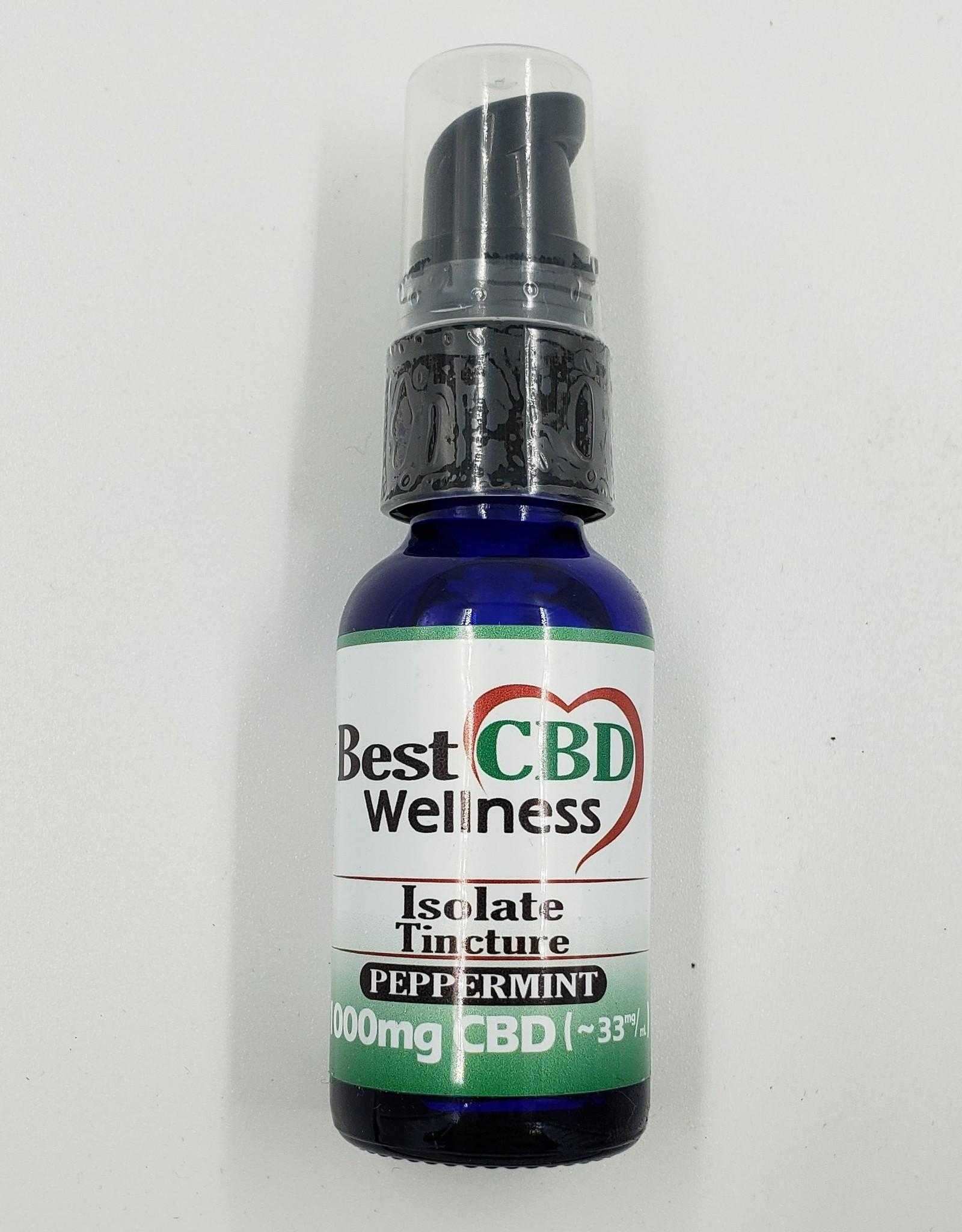 Best CBD Wellness Isolate Oil Tincture 1000mg Peppermint