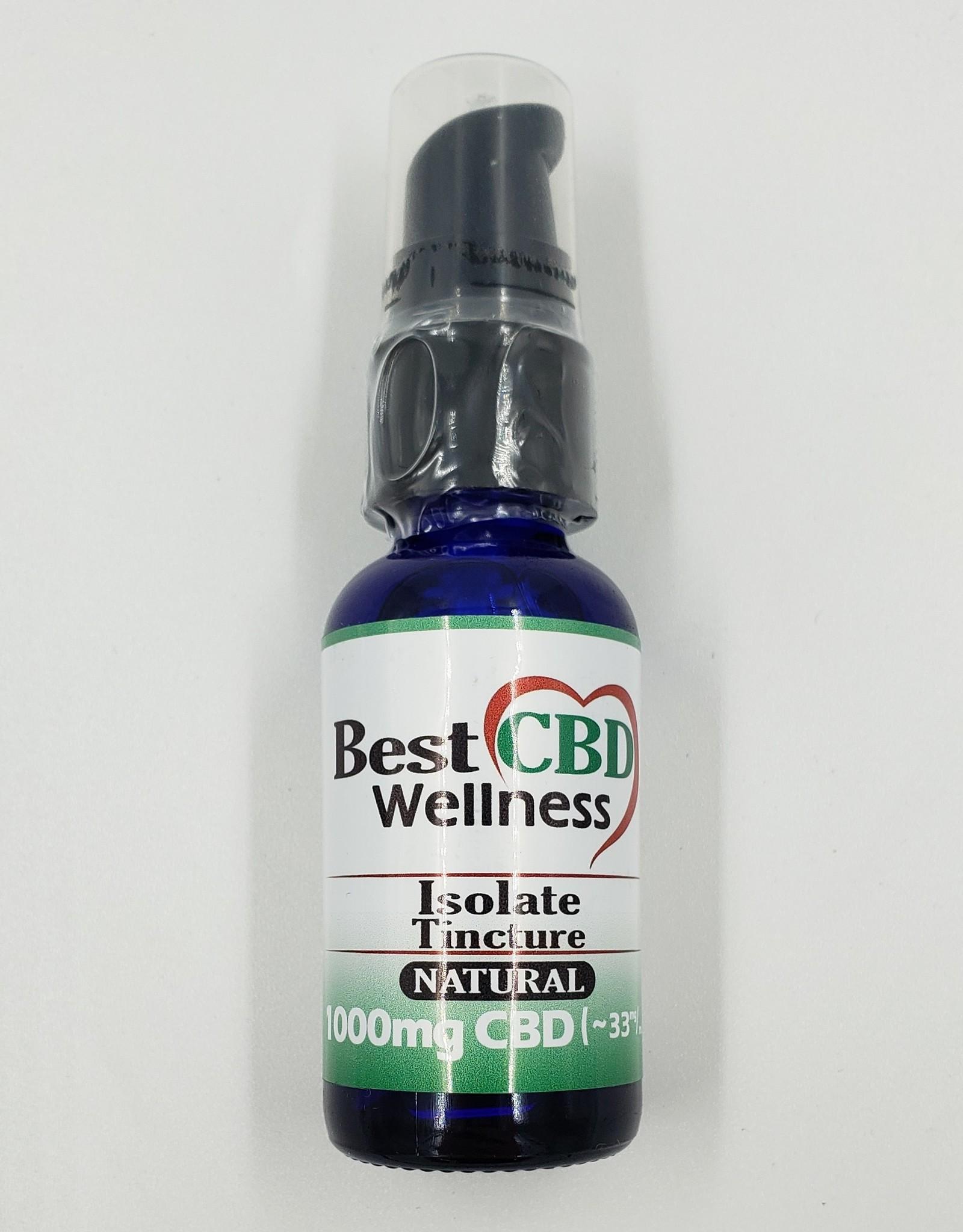 Best CBD Wellness Isolate CBD Oil Tincture 1000mg Natural Flavor