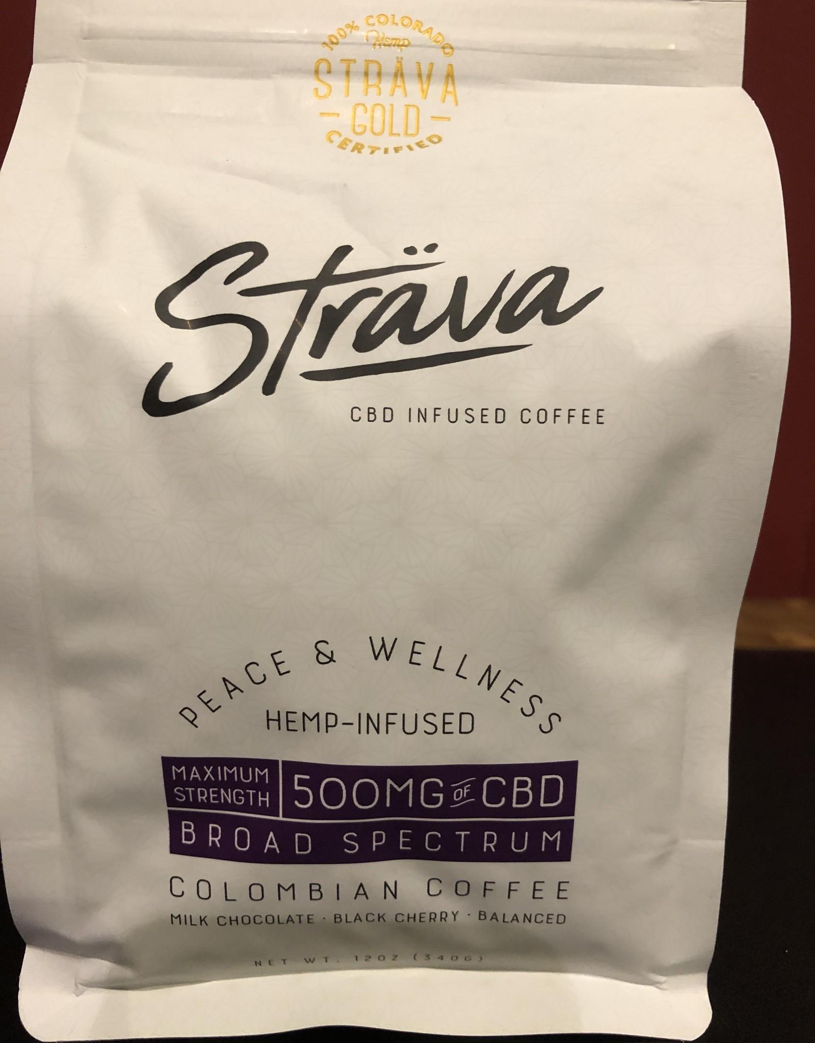 Strava Hemp Infused Coffee - Max Strength 500mg/bag, 20mg/serving