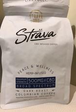 Strava Hemp Infused Coffee - Max Strength Dark Roast 500mg/bag, 20mg/serving