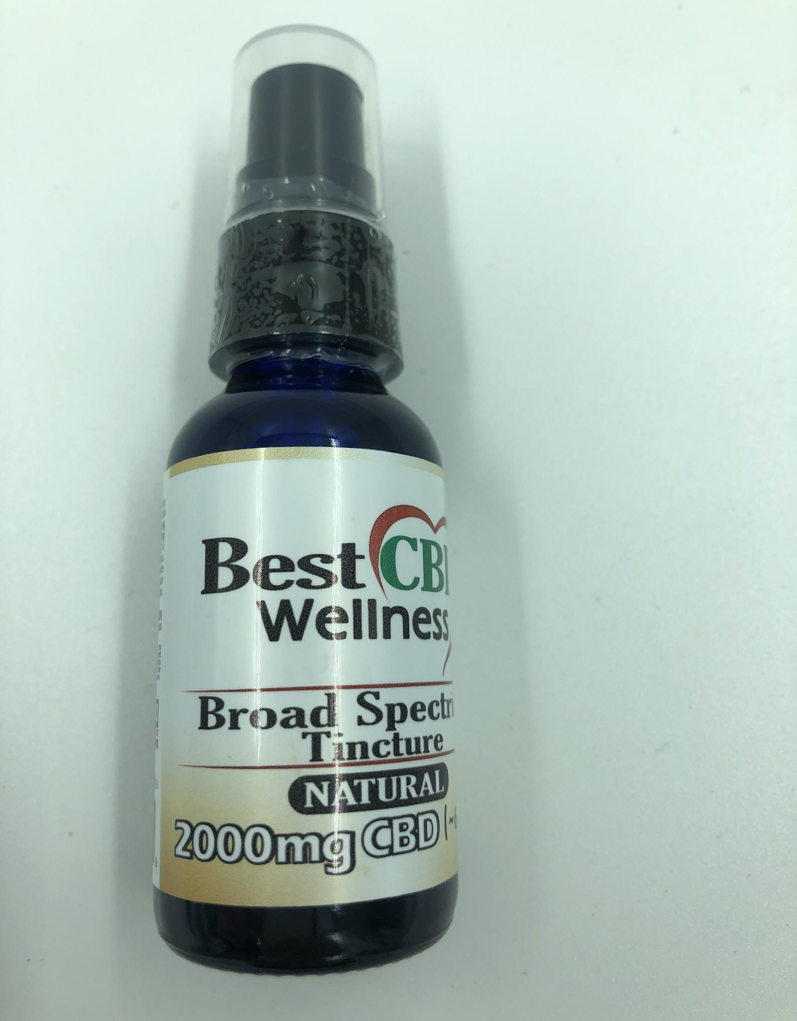 Best CBD Wellness Broad Spectrum CBD Oil Tincture 2000mg Natural