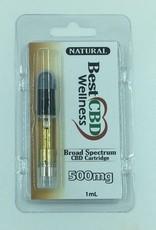 Best CBD Wellness Broad Spectrum CBD Oil Vape Cartridge 500mg Natural
