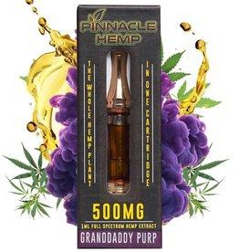 Pinnacle Hemp Full Spectrum CBD Grand Daddy Purp Vape Cartridge 500mg 1ml