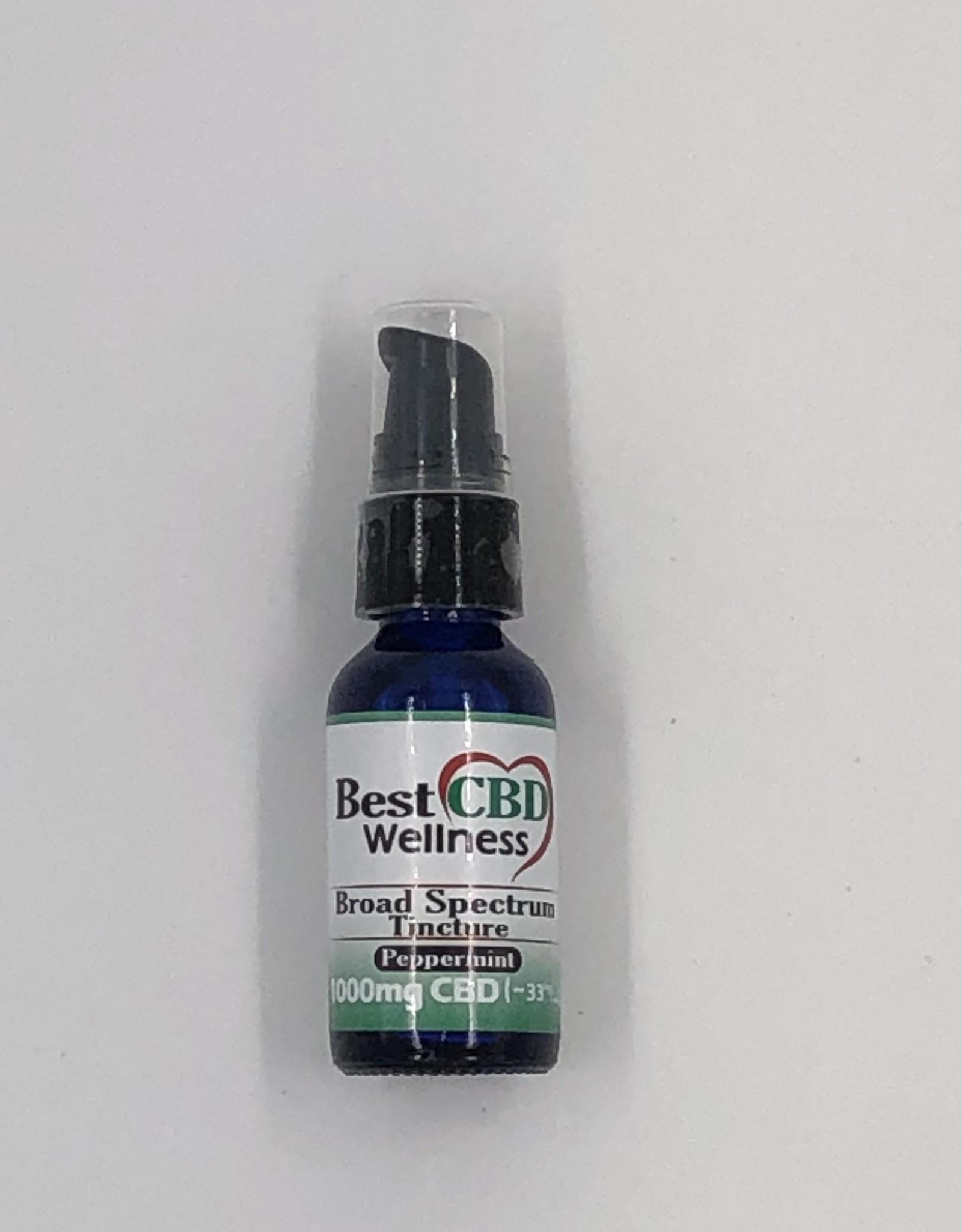 Best CBD Wellness Broad Spectrum CBD Oil Tincture 1000mg Peppermint 30ml