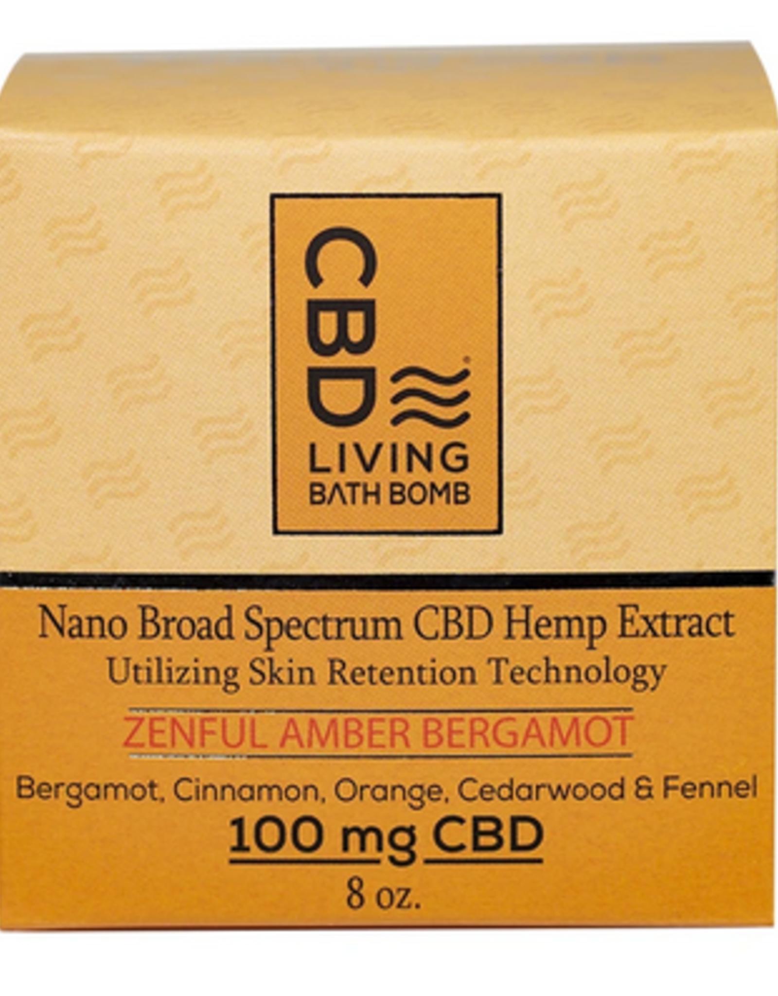 CBD Living Zenful Amber Bergamot CBD Bath Bomb 100mg