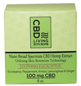 CBD Living Soothing Eucalyptus CBD Bath Bomb 100mg