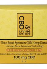 CBD Living Refreshing Coconut Lime CBD Bath Bomb 100mg