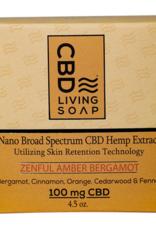CBD Living Zenful Amber Bergamot Organic CBD Soap 100mg