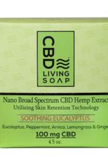 CBD Living Soothing Eucalyptus Organic CBD Soap 100mg