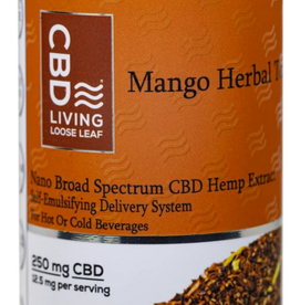 CBD Living Full Spectrum CBD Mango Herbal Tea 250mg/12.5mg