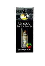 Full Spectrum Durban Sour Uncut Wax Cartridge, 300mg, Sativa X1 by For The People