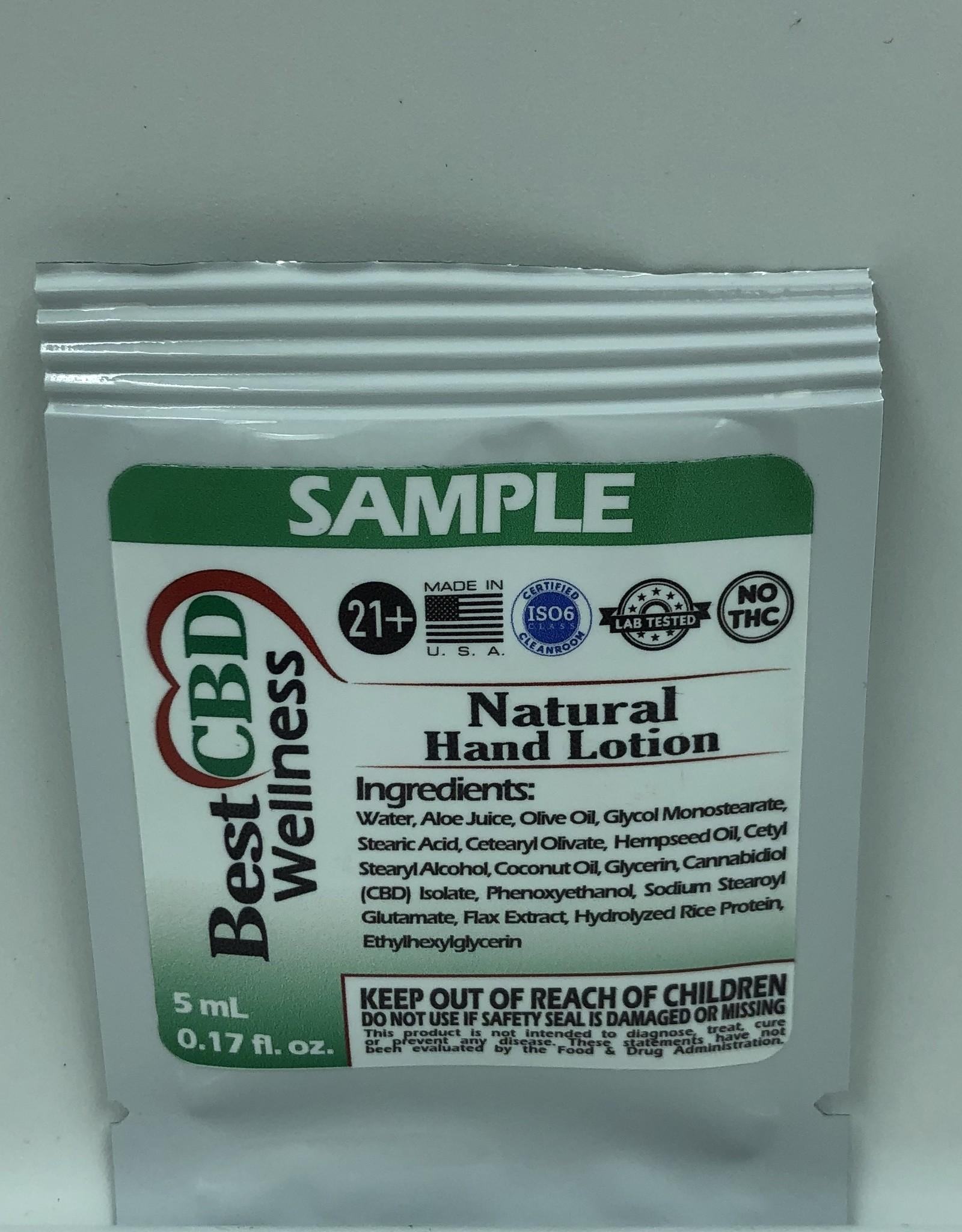 Best CBD Wellness CBD Natural Hand Lotion SAMPLE SIZE